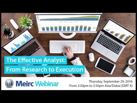 The Effective Analyst: From Research to Execution | Planning and Strategy Management | Dubai | Meirc