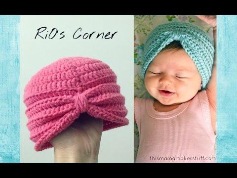 [Crochet] Turban Hat   Hướng dẫn móc mũ Turban đáng yêu cho bé