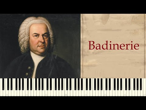 analysis of badinerie by j s bach Js bach - minuet and badinerie (from orchestral suite no 2 in b minor) 03:08 johann sebastian bach (badinerie) - stop motion drumming 01:48 3-1dvoskin vladimir(flute) - js bach-badinerie-from ouverture bwv 1067.