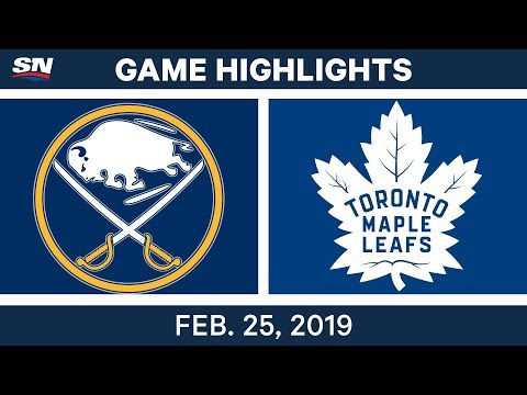 NHL Highlights | Sabres vs. Maple Leafs - Feb 25, 2019
