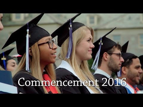 Connecticut College Commencement 2016 Highlights