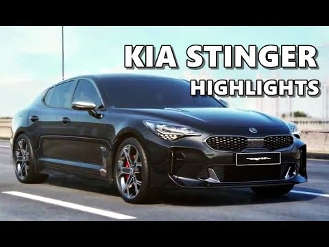 Kia Stinger 2018 Features Equipment Performance Highlights