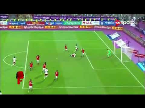 Salah scoring goal for egypt when they qualify for world cup