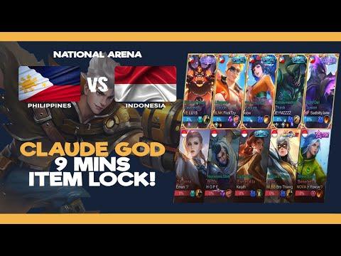 Claude God 9mins Lock Item agad | Team Philippines vs Team Indonesia - National Arena