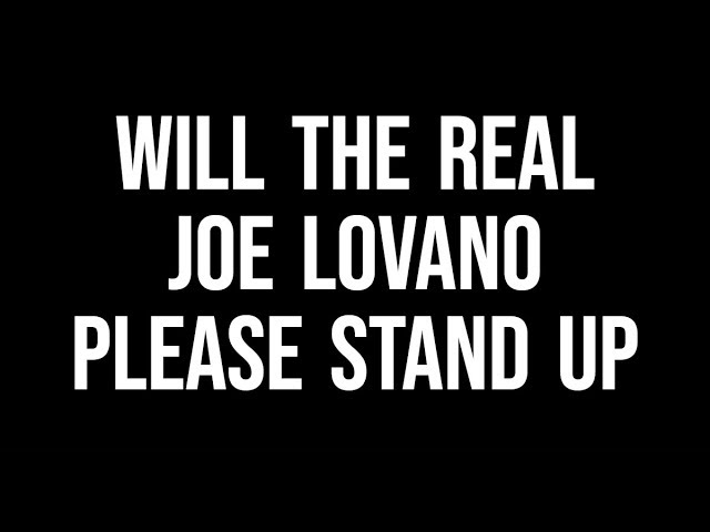 Will the Real Joe Lovano, Please Stand Up