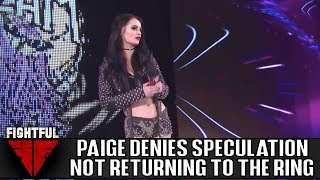 Paige Denies Report That She