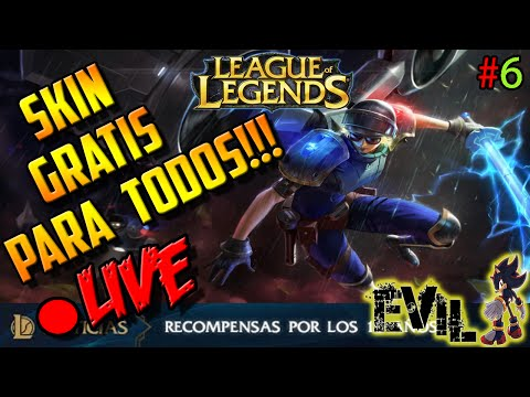 League Of Legends Español Gameplay LIVESTREAMING |REGALITO DE RIOT + INFO NUEVA Actualizacion xD #6