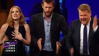 Emily Blunt & James and Jessica Chastain & Chris Hemsworth Bonded with Music