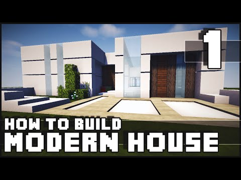 minecraft house how to build modern house part 1 yourepeat