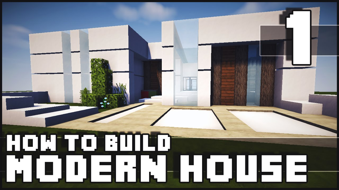 minecraft house how to build modern house part 1