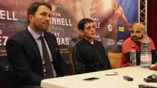GAVIN McDONNELL v REY VARGAS - POST FIGHT PRESS CONFERENCE - WITH EDDIE HEARN & DAVE COLDWELL