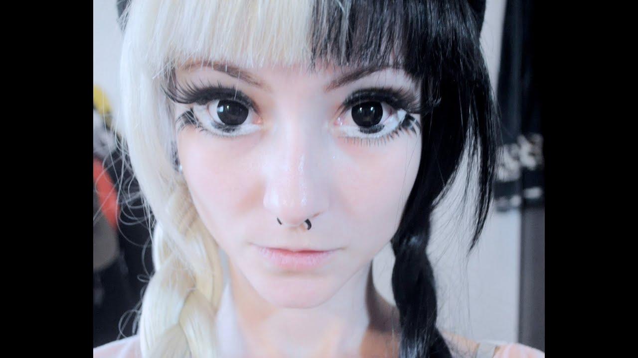 Giant Anime Eyes Makeup / tutorial olhos imensos de anime ...