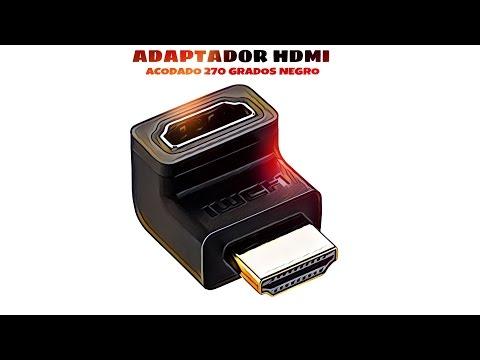 Video de Adaptador HDMI acodado 270 grados  Negro