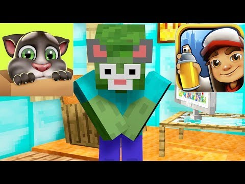Monster School : TALKING TOM vs SUBWAY SURFERS  - Minecraft Animation