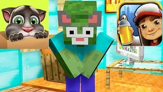- Monster School TALKING TOM vs SUBWAY SURFERS Minecraft Animation