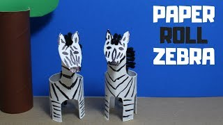 How to Make a Paper Roll Zebra | Paper Roll Craft