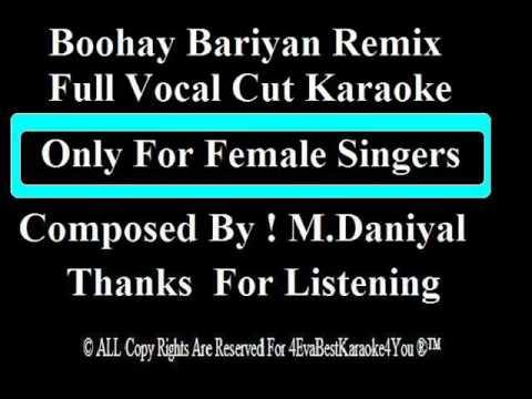 Boohay Bariyan Remix Vocal Cut Karaoke