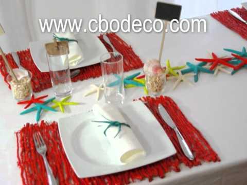 D coration de table th me mer tisch deko meer table decoration see youtube - Decoration table mer ...