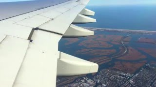 Взлет самолёта из аэропорта JFK Нью Йорк