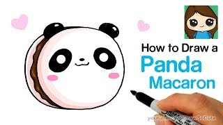 How to Draw a Panda Macaron Cute and Easy