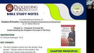 2020_1029 PWAM Bible Study: Kingdom Principles - Chapter 6 - KINGDOM TERRITORY - Part 1