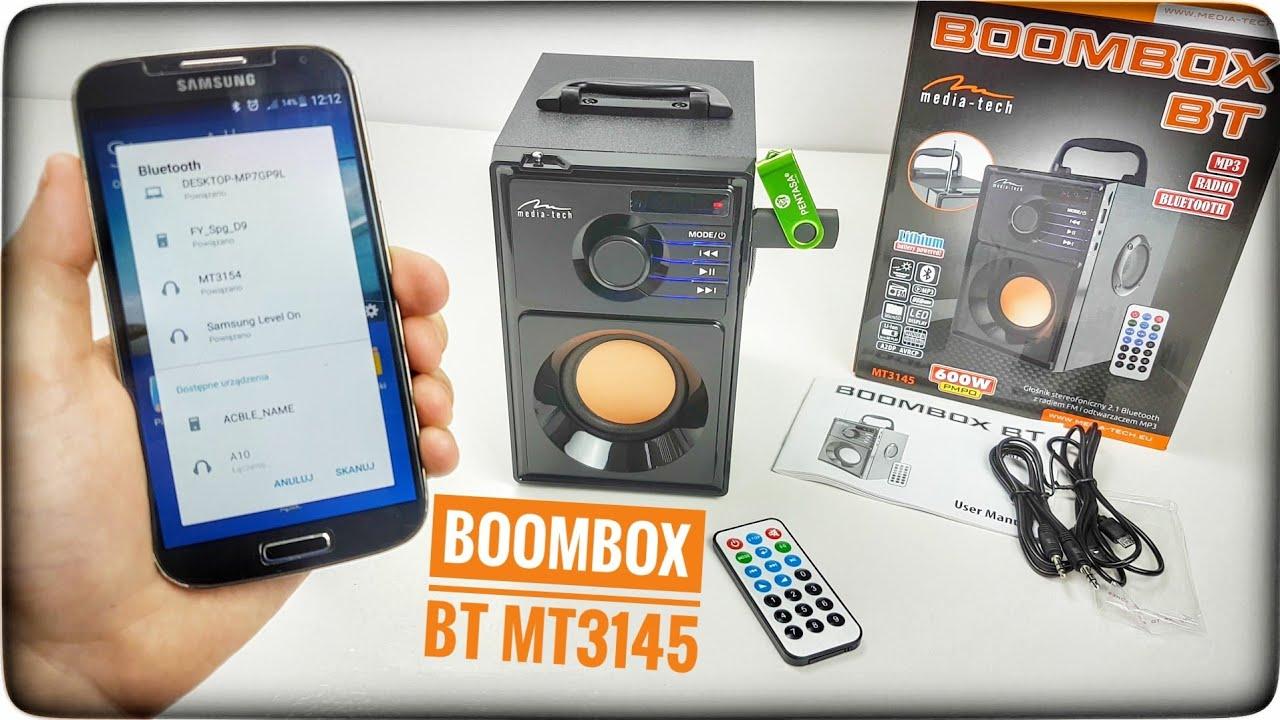 Media-Tech Boombox BT MT3145 Unboxing
