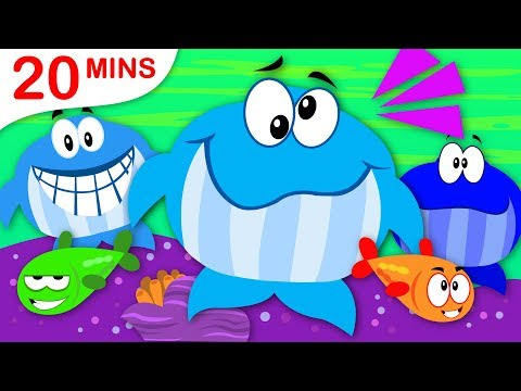 3 Big Blue Whales| Learn to Count | 5 Little Puppies | Itsy Bitsy | Nursery Rhymes by Little Angel
