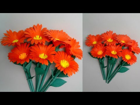 DIY Paper Flowers | Sticks Flowers | Beautiful paper flowers || SUNIL CREATION