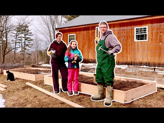 These DIY Raised GARDEN Beds are our  FIRST step to GROWING More FOOD