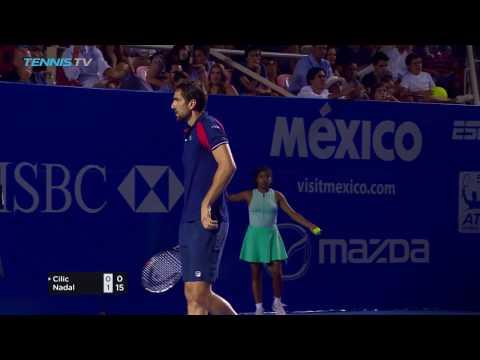 Nadal beats Cilic & Querrey upsets Kyrgios in 2017 ATP Acapulco Semi-Finals