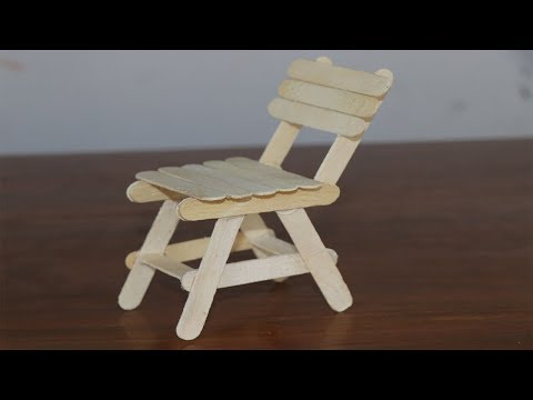 How to make a Chair with Ice Cream Sticks | Popsicle Stick Chair | 5 Minute Crafts Videos