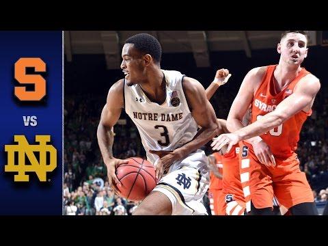 Syracuse vs. Notre Dame Men