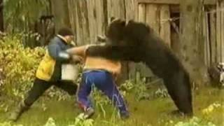 Big Bear Attacks on a women