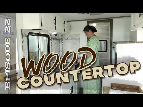 RV Countertop Remodel (with real wood)
