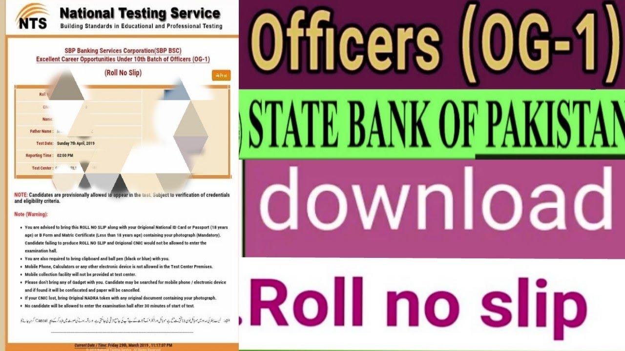 Roll no slip nts registration