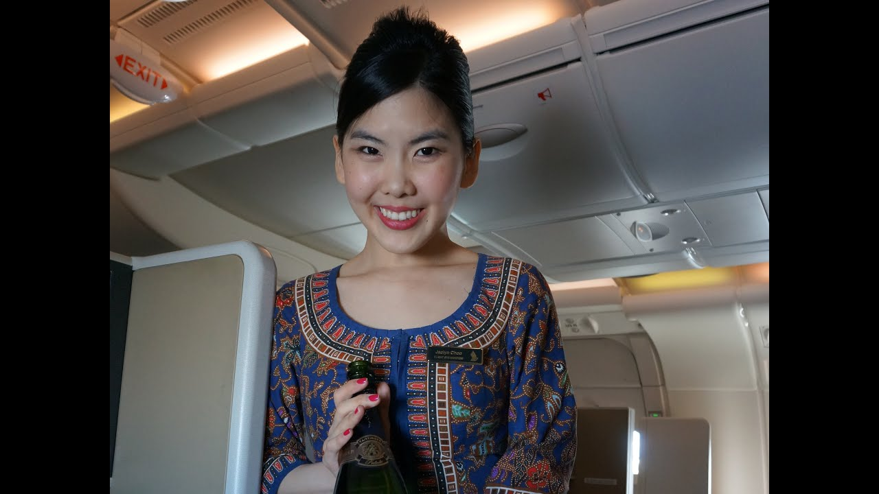 singapore airlines business class - airbus a380 - sin-nrt -welcome