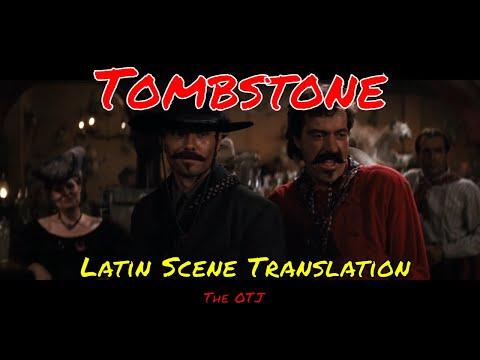 Tombstone Latin Scene Translation