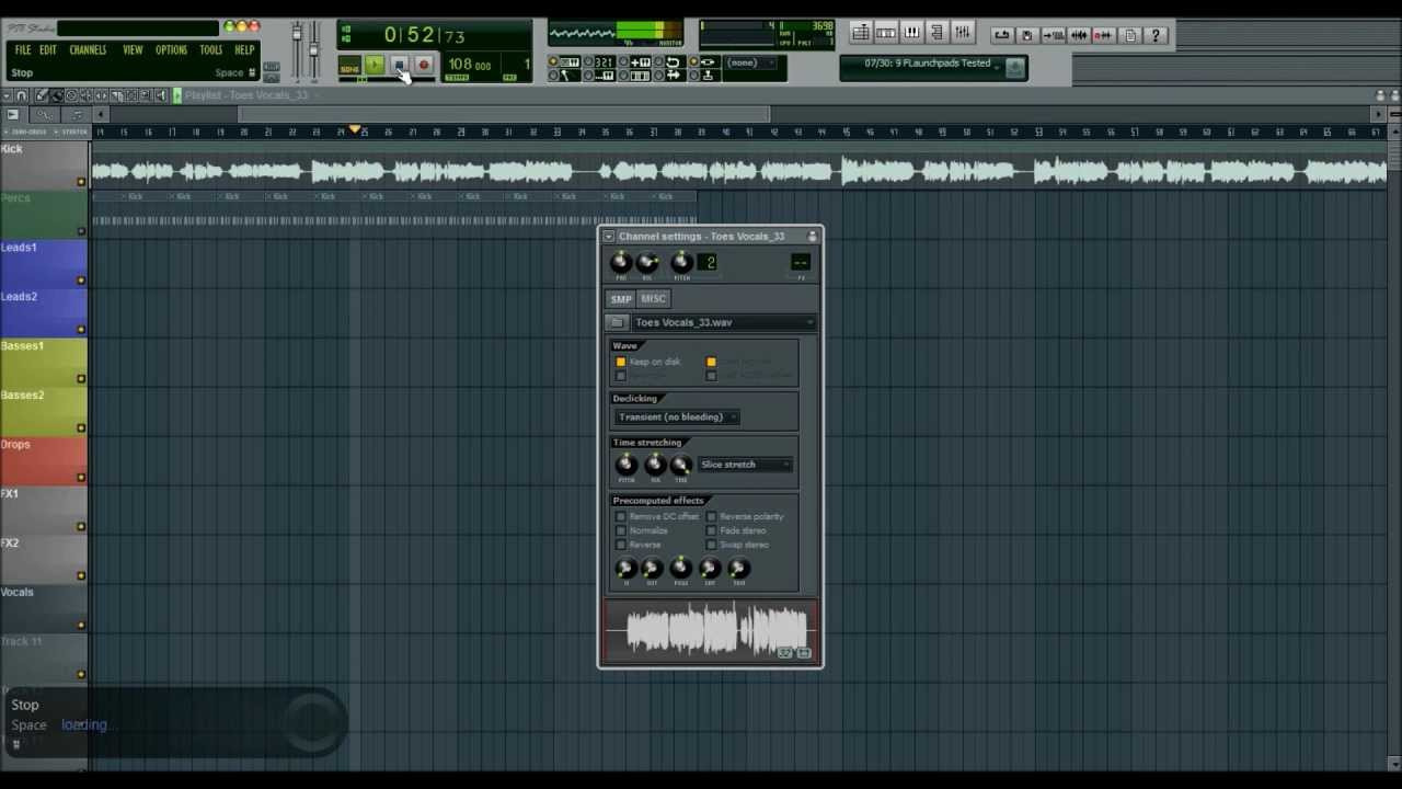 how to change time stretching fl studio