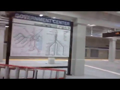 MBTA Government Center Blue Line Under Construction