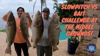 Slowpitch jigging vs Bait challenge at the Middle grounds!