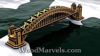 Sydney Harbour Bridge: 3d Assembly Animation (720hd)