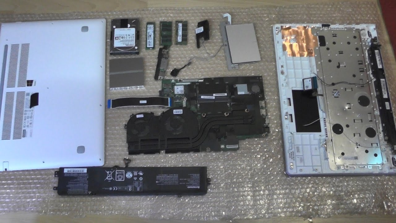 Full Disassembly Lenovo IdeaPad 700 Repair Replace Cleaning