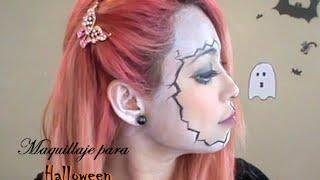 Maquillaje de Halloween   Muñeca de Porcelana   disfraz