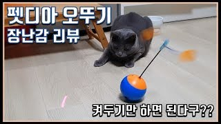 펫디아 오뚜기 고양이 장난감 리뷰ㅣ Russian Blue Hama ㅣ러시안블루ㅣ ロシアンブル ㅣ고양이ㅣ