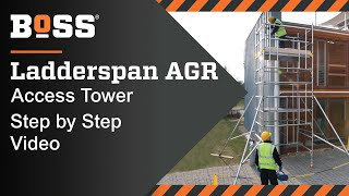 Setting up a BoSS Ladderspan AGR Mobile Access Tower