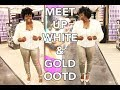 OOTD Plus Size Fashion- White Gold and Fur