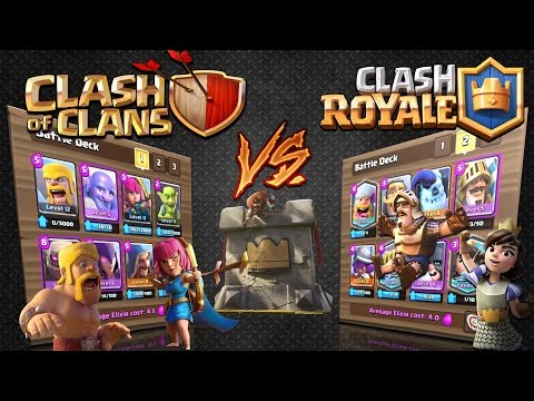 Clash Royale - CLASH OF CLANS V's CLASH ROYALE!* The ultimate battle!