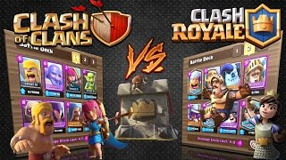 Clash Royale - CLASH OF CLANS V's CLASH ROYALE!* The ultimate battle!