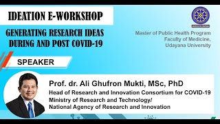 Generating research ideas during and post COVID-19
