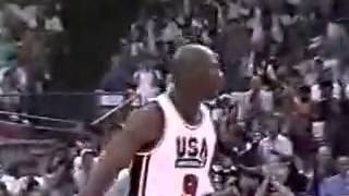 USA vs Cuba 1992 - Dream Team`s first official game